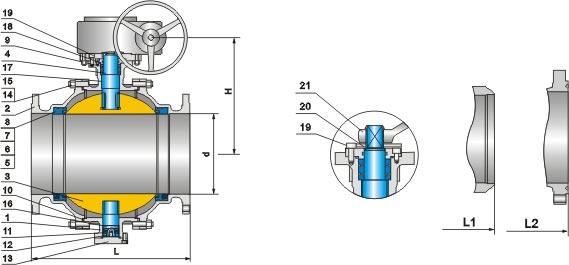 Cs Trunnion Type Ball Valve Windmill Valve