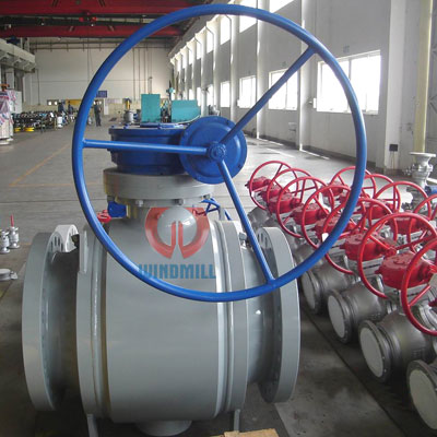 Welded ball valve