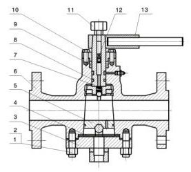 Cast Steel Plug Valve Windmill Valve
