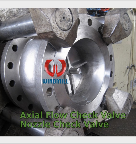 Axial Flow Valves Class 300 : Nozzle axial flow check valves windmill valve